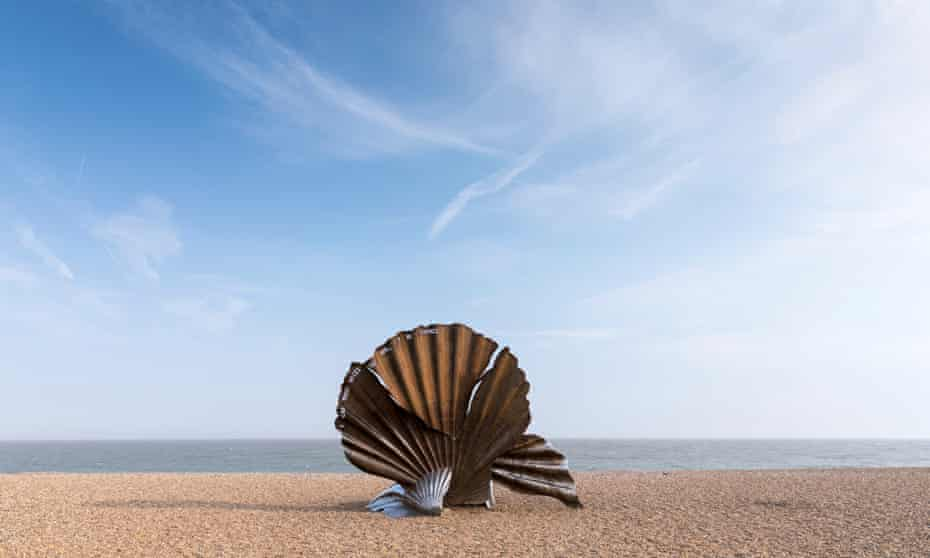 Aldeburgh Scallop Shell Sculpture, Suffolk.