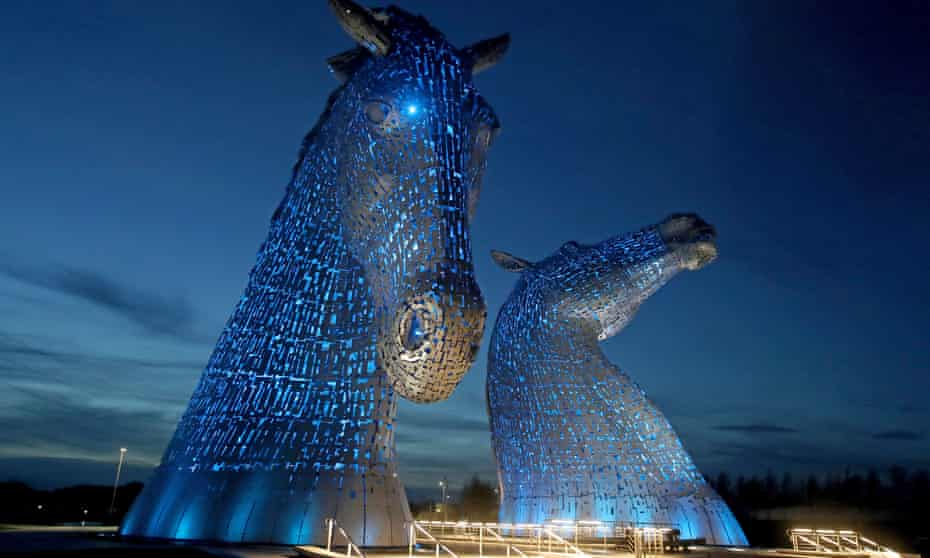 The Kelpies, in Falkirk.