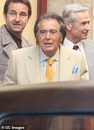 Shocked:Patrizia said she's stunned by the film's portrayal of her grandfather Aldo, played by Al Pacino