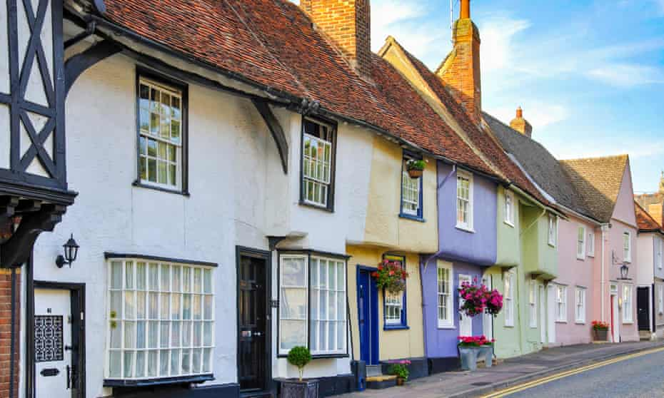 Cottages, Castle Street, Saffron Walden, Essex, England, United Kingdom.