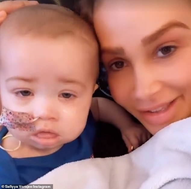 Heartbreak:It comes after Safiyya revealed she has planned a tattoo tribute to her daughter Azaylia, as the tot continues her fight against leukaemia