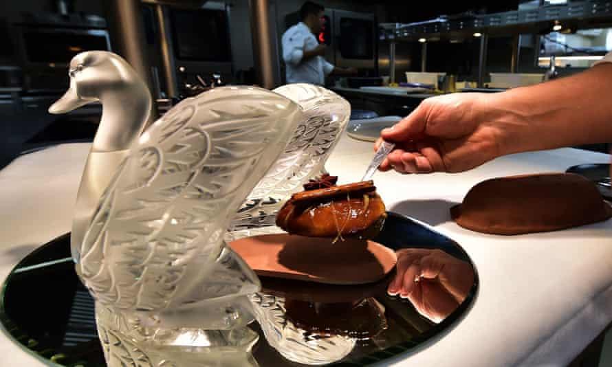 Duck foie gras prepared at the Chateau Lafaurie-Peyraguey near Sauternes.
