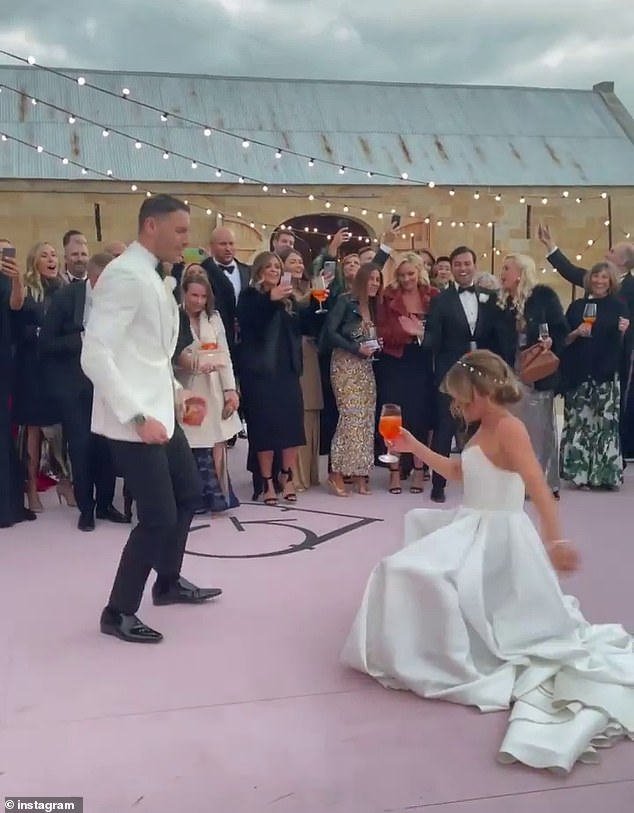 Beautiful: The evening reception was held at Shene Distillery. Shene Estate hosts limited bespoke wedding ceremonies each year at the historic property