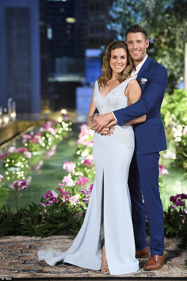 Going the distance: Georgia chose Lee as her winning suitor on the 2016 season of Channel Ten's The Bachelorette (pictured)