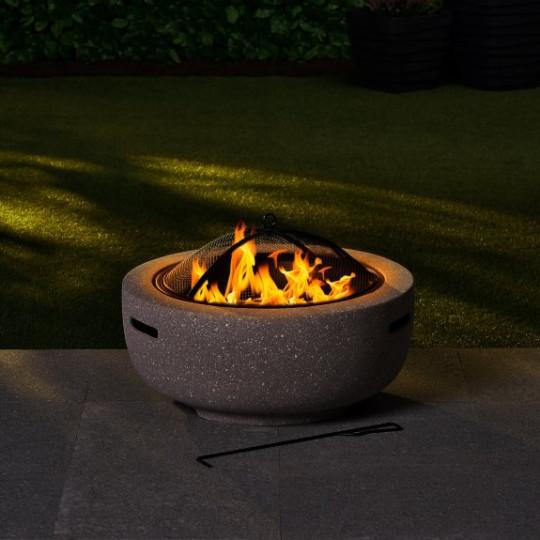 Round Vermont fire pit