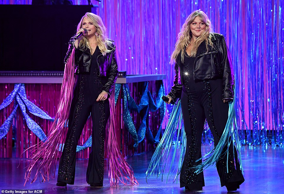 Divas: The show kicked off with a high-energy performance by Miranda Lambert and Elle King