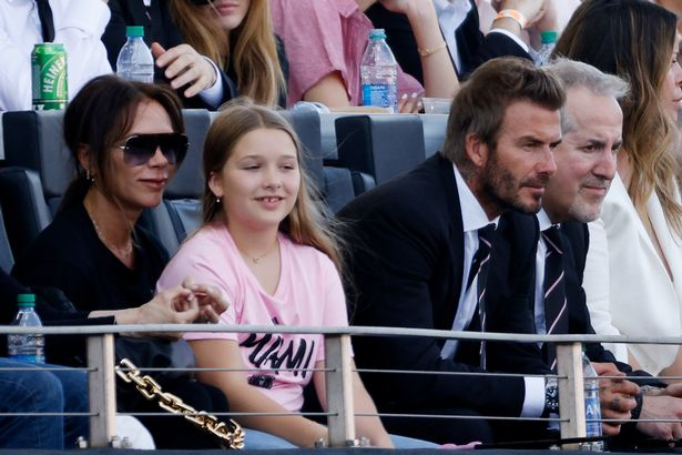 Posh Beckham looked incredible as she watched the game