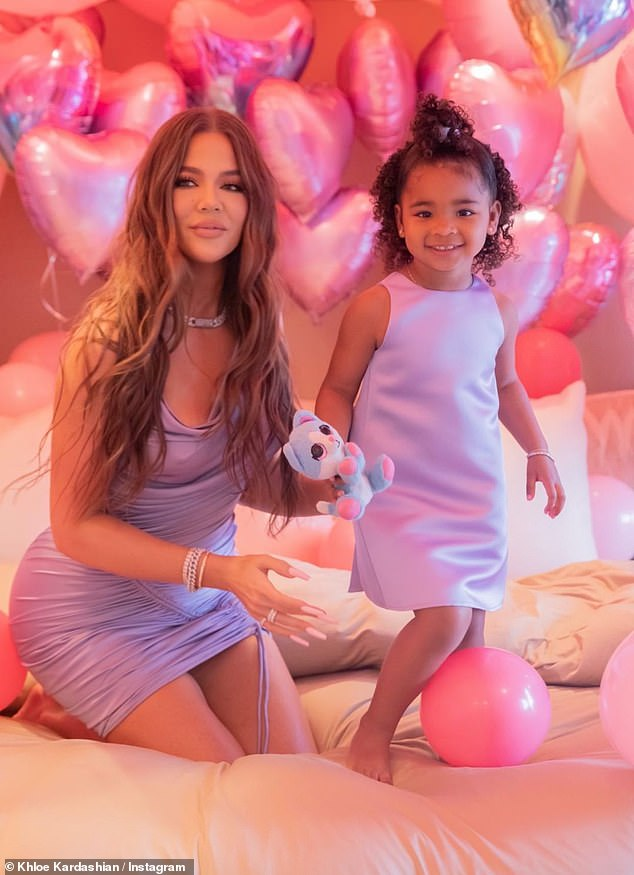 Mini me: True is Khloe Kardashian's daughter with rumored fiancé Tristan Thompson. True is the youngest out of the three cousins and turned three last week