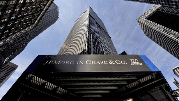 A view a sign at a JPMorgan Chase building in New York, New York, USA, 16 April 2009