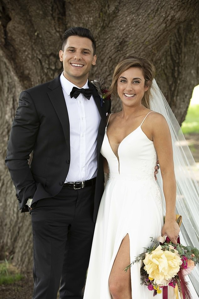 'The greatest risk I have ever taken':Johnny shared a series of photos with Kerry, both 30, to mark their special milestone