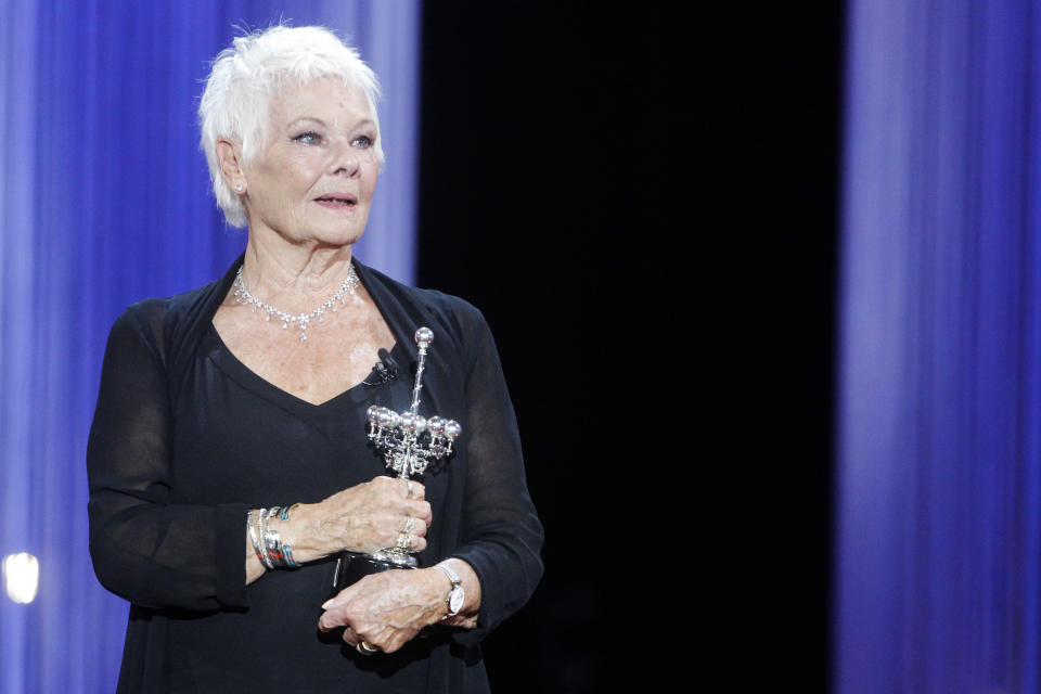 SAN SEBASTIAN, SPAIN – SEPTEMBER 25: Judi Dench receives the Donostia Award during the 66th San Sebastian Film Festival at Victoria Eugenia theater in San Sebastian, Spain on September 25, 2018. Credit: Jimmy Olsen/MediaPunch ***NO SPAIN*** /IPX