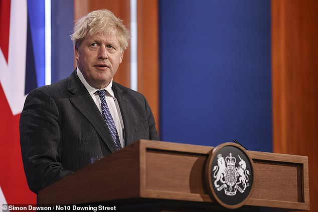 It comes as Boris Johnson said hewould not deviate from his 'cautious but irreversible' roadmap