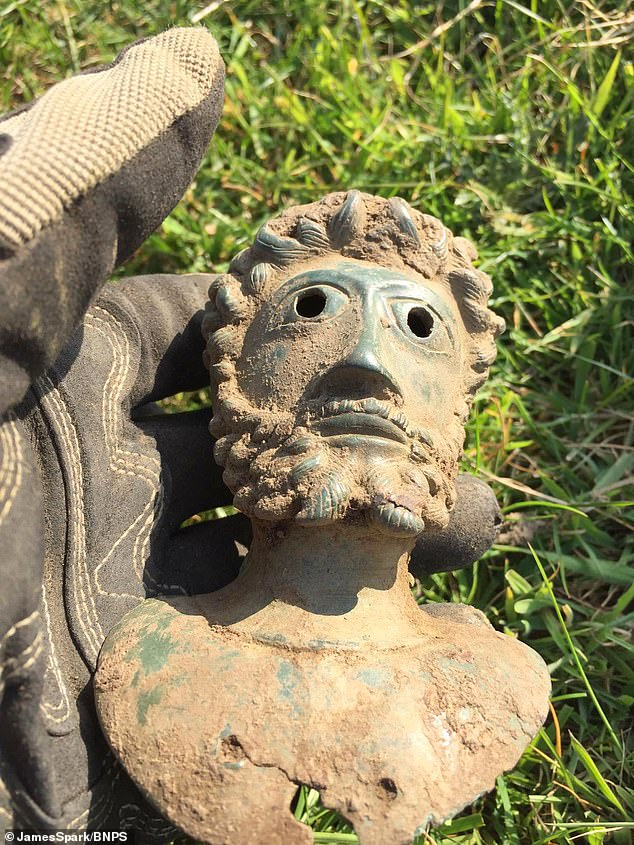 The items were buried in a field in Ryedale, North Yorks, as an offering to the gods as part of a Roman religious ceremony in about AD 160