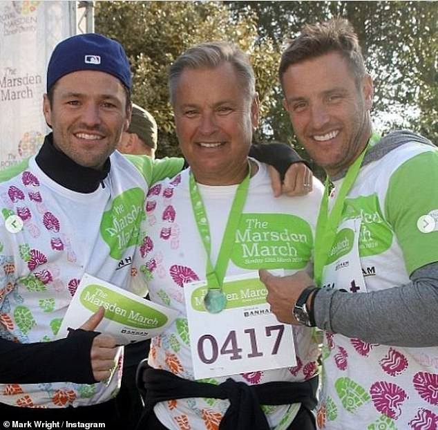 Tragic:During an appearance on Good Morning Britain on Wednesday, the former TOWIE star, 34, confirmed his family are suffering but are doing their best to move on after laying Edward 'Eddie' (pictured centre) to rest on Thursday