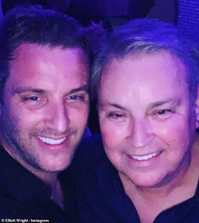 Heartache: Eddie, whose son is Mark's cousin Elliott Wright (pictured together), tragically passed away aged 66 at the beginning of March following an eight-week battle with Covid