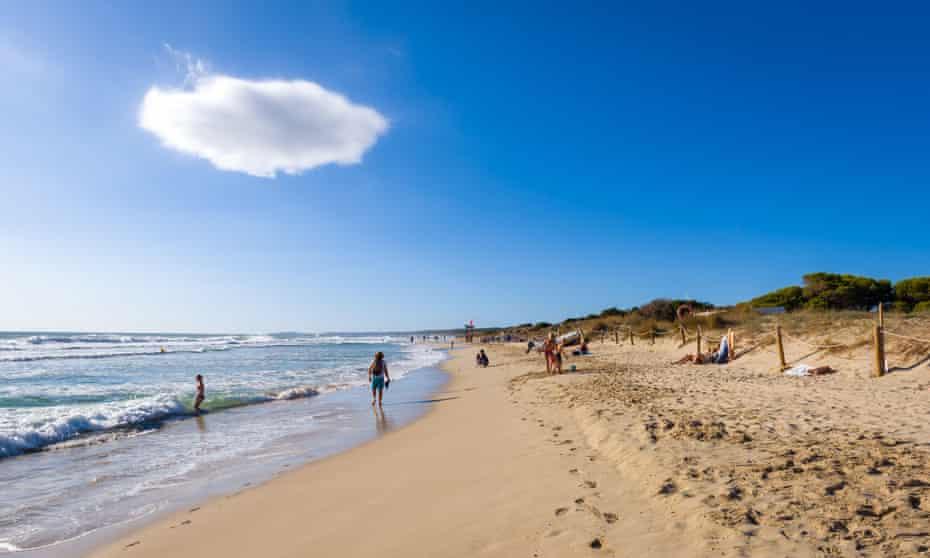 Son Bou beach, Menorca, Spain.