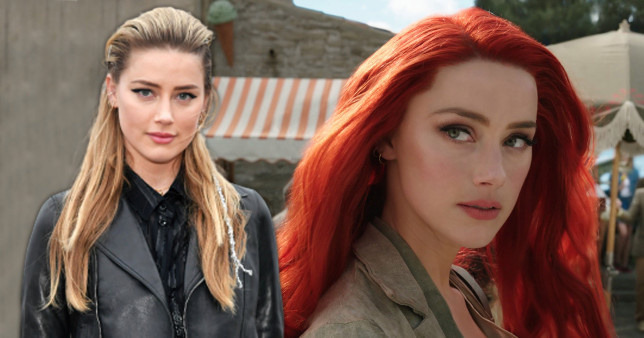 Amber Heard on red carpet and in Aquaman