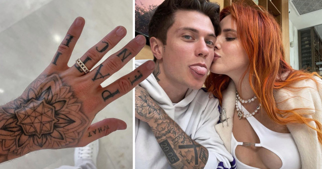 Bella Thorne, fiance Benjamin Mascolo and his new engagement ring