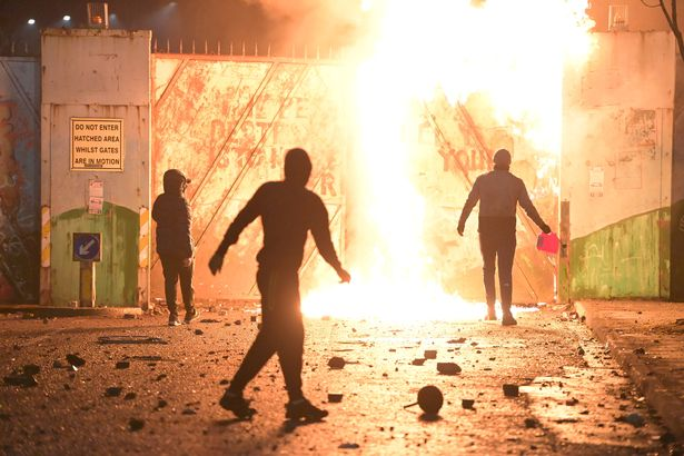 Fire fed by petrol burns as youths clashed