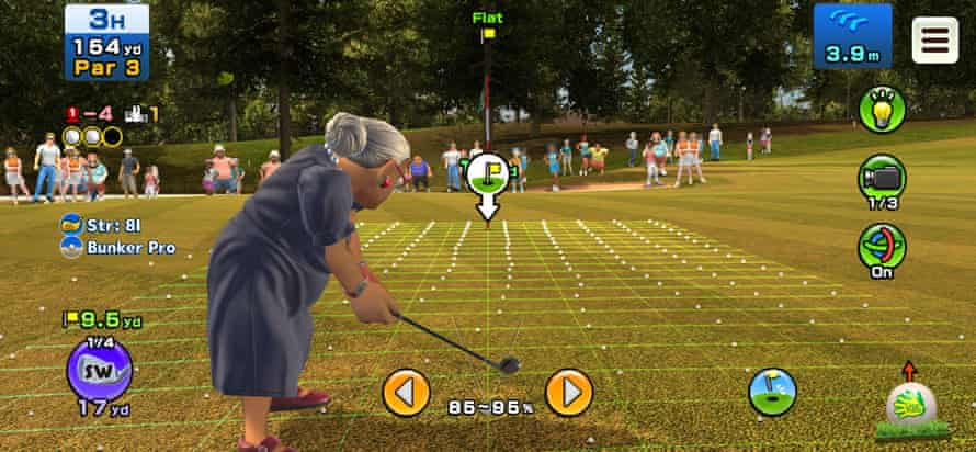 Clap Hanz Golf ... the busy-looking interface gives you everything you need to play well.