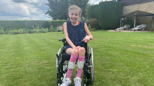 Aggie is one of only 200 children in the world with rare brain condition H-ABC - and now former soldier Darren Hardy is helping to raise £1m for her treatment