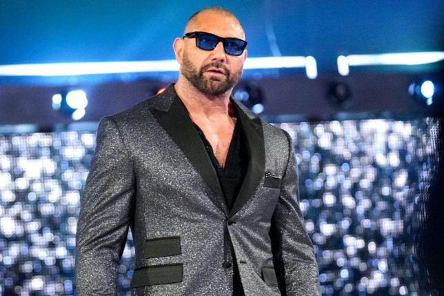 Former WWE superstar and Hollywood actor Dave Bautista (Batista)