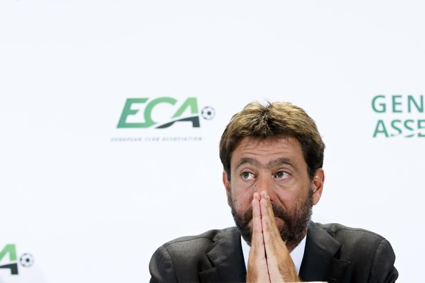ECA president Andrea Agnelli was not at the meeting