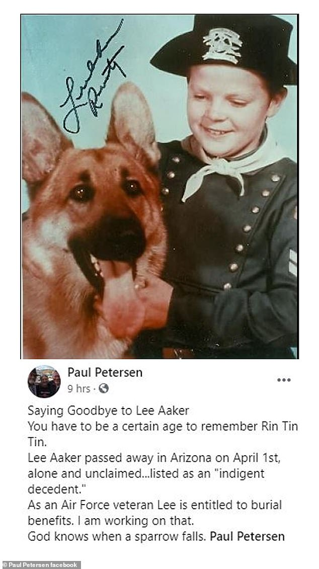 R.I.P.: Child star Lee Aaker has passed away at 77. His death on April 1 in Arizona was announced by former child actor turned advocate Pete Petersen on Facebook on Tuesday