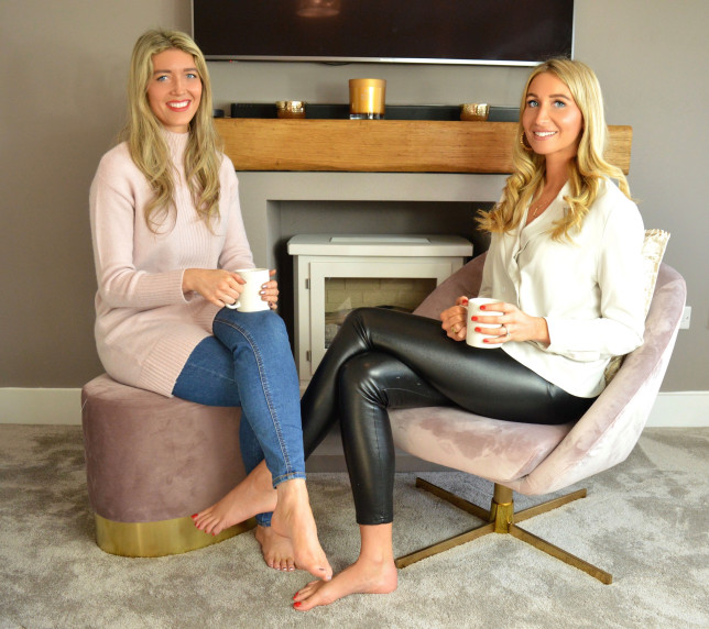 Laura McBride and Laura Boswell who launched a business in lockdown