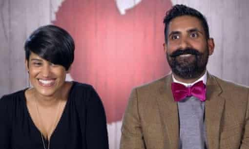 Hema and Ajai on the show, after their first date.