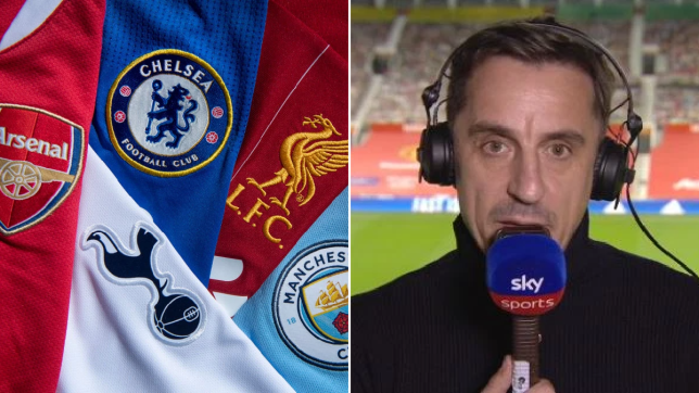 Gary Neville take swipe at Arsenal over European Super League inclusion and calls for 'big six' to be docked points