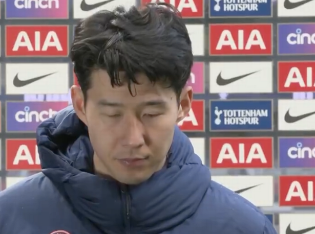Heung-Min Son was emotional after the loss