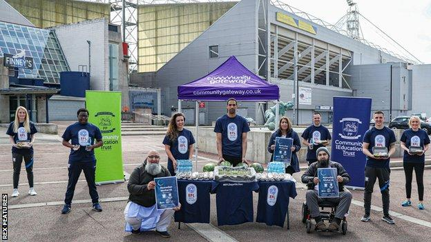 The gazebo, offering support, snacks and information during Ramadan, will be outside Preston North End's Deepdale home until 7 May