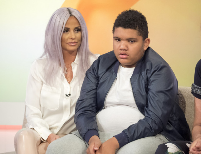Editorial use only Mandatory Credit: Photo by Ken McKay/ITV/REX (5688803bh) Katie Price and Harvey Price 'Loose Women' TV show, London, Britain - 17 May 2016