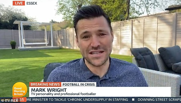 Emotional:Mark Wright admitted it has been an 'extremely hard' year following the death of his uncle Edward Wright due to Covid, after previously detailing how the virus 'tore apart' his family