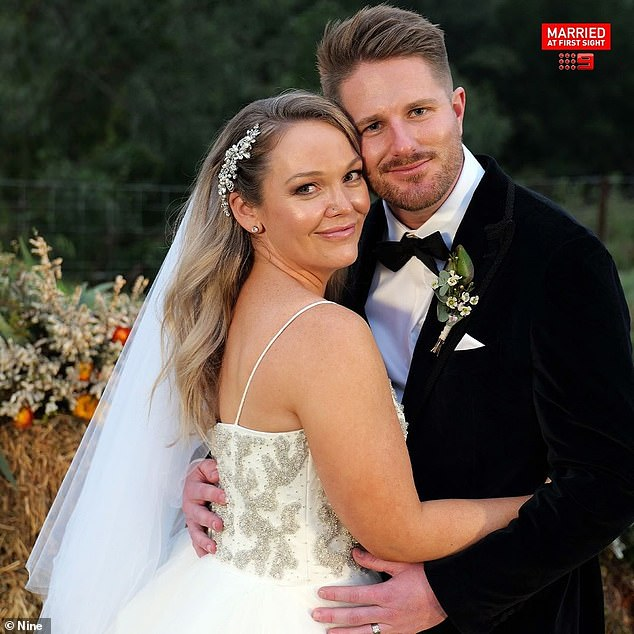 Nine breaks its silence: Channel Nine has refused to apologise for depicting controversial scenes between Bryce Ruthven and Melissa Rawson (both pictured) on Married At First Sight, despite critics claiming their relationship depicts domestic abuse