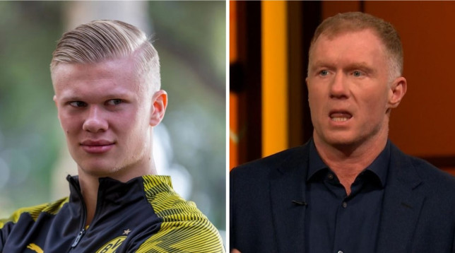 Paul Scholes believes Erling Haaland could sign for Manchester United or Chelsea this summer