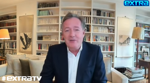 Piers during his interview with Extra