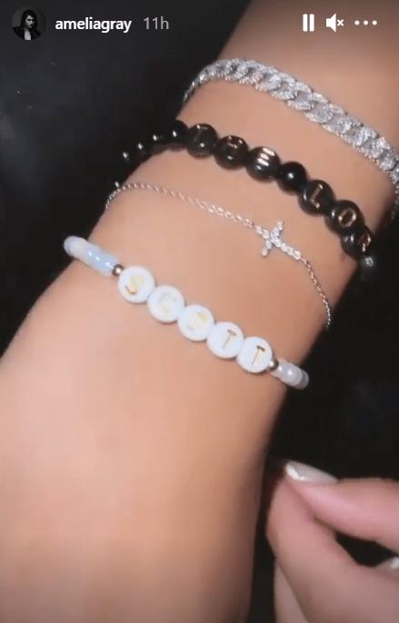 Scott Disick's girlfriend Amelia Hamlin shows off new bracelet with his name