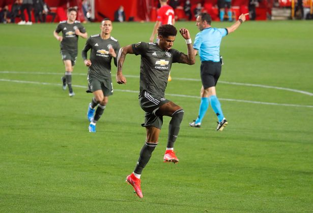 Rashford grabbed his 20th goal of the season just after the half-hour mark