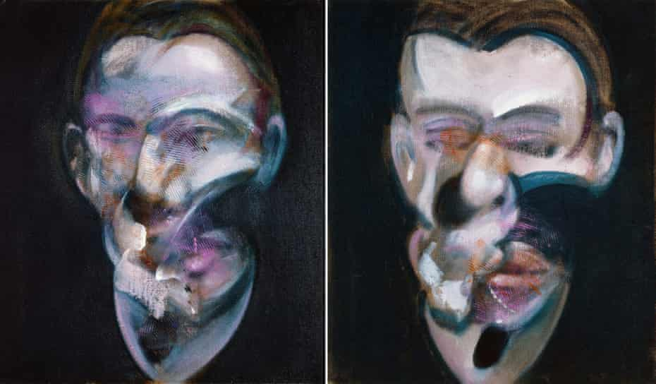 Francis Bacon's diptych Two Studies for Portrait, 1976.