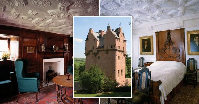 pink castle in Scotland