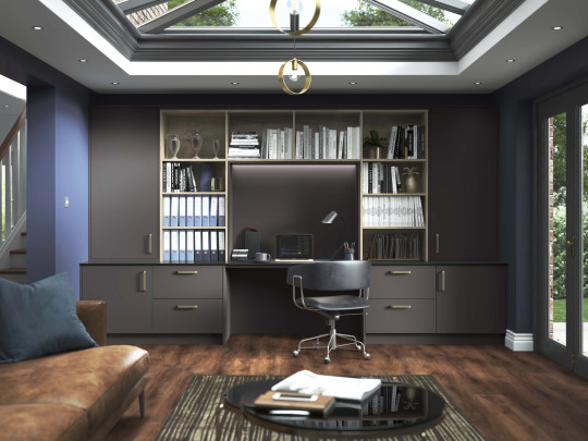 Wickes' Melrose home office in carbon