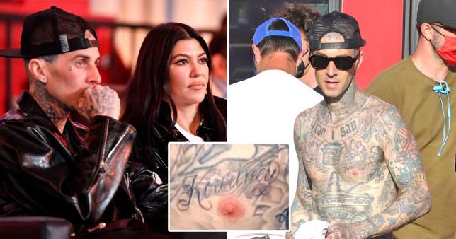Travis Barker gets Kourtney Kardashian tattoo
