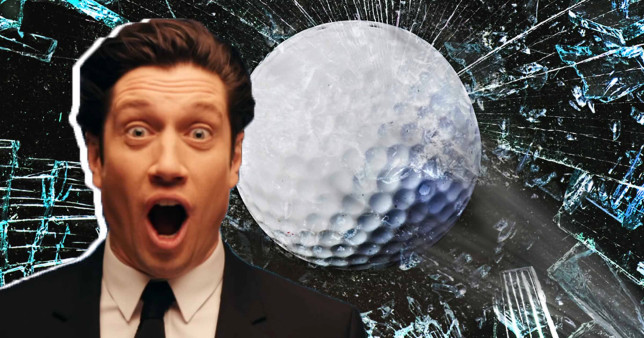Vernon Kay has been smashing his windows with golf balls in lockdown