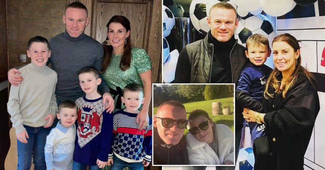 Wayne Rooney and Coleen with their sons