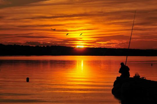 Cala Saona at sunset