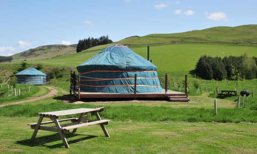 Ettrick Valley Yurts in Scotland
