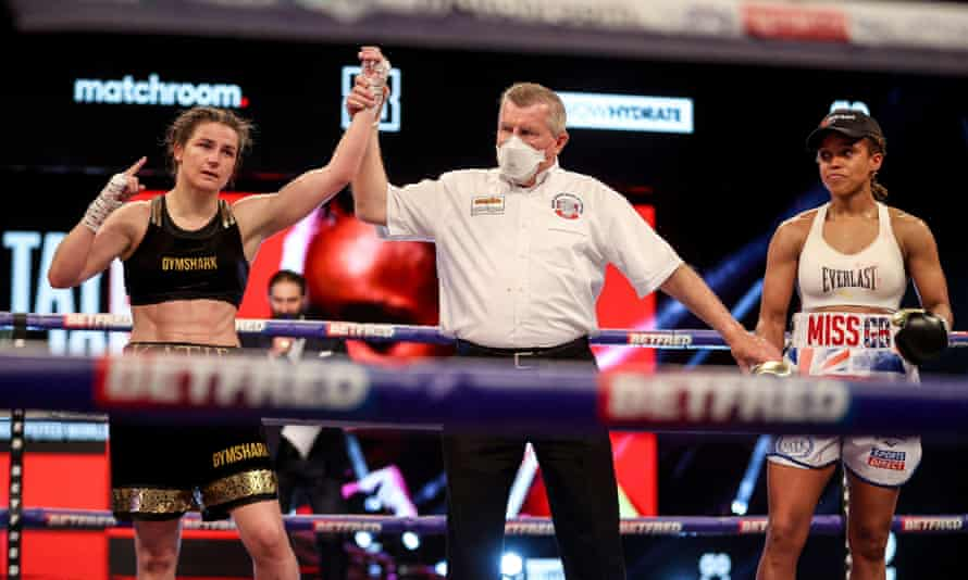 Katie Taylor retains her WBC, WBA, IBF and WBO world lightweight belts against Natasha Jonas