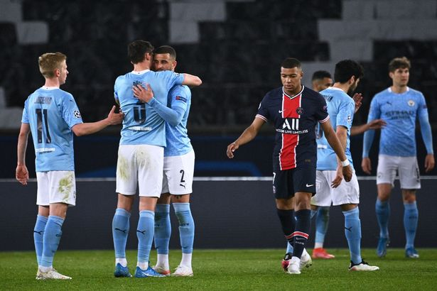 Man City left Paris with a 2-1 win